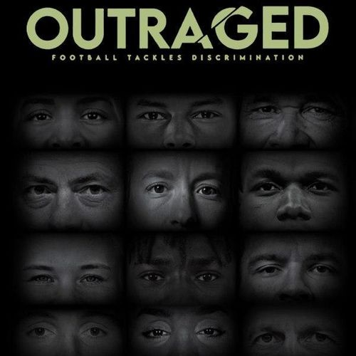 Outraged: football tackles discrimination